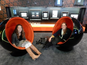 Sister Harman and Sister Smith at the BMW factory in Germany