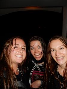 WE got SOOOO wet coming home tonight!