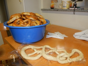 Making pretzels for the Activity!