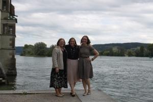 Sister Lee, Sister Priest and sister Smith.  Where the Rhein begins Stein Am Rhein